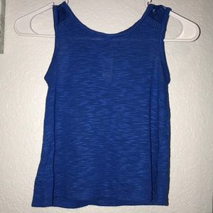 Blue kids tank top